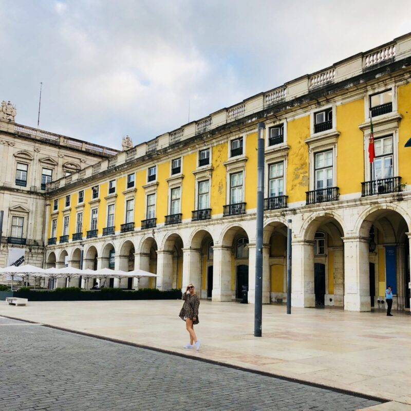 yellow square lisbon, casie stewart, portugal, travel blogger, lisbon, aeroplan, withaeroplan, travel