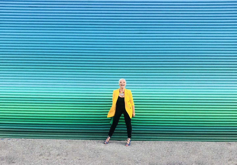 casie stewart, blue, yellow, blogger, influencer, toronto, travel, cannabis