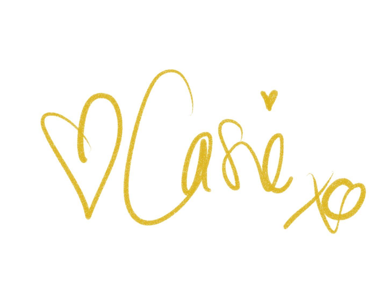 Casie Stewart, signature.