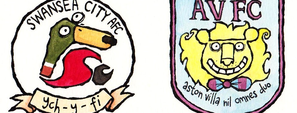 The Friday Cartoon: Football Club Badges Reimagined