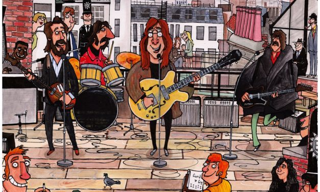 Musical Daubs: The Beatles on a Rooftop, January 1969