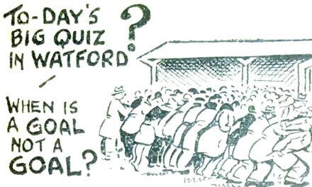 As Bad As Things Got: Watford, 7th May 1959