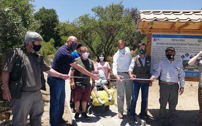 Nuevo sendero inclusivo inauguró Conaf en el parque nacional Río Clarillo