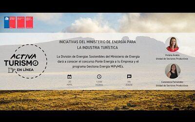 Iniciativas del Ministerio de Energía para la industria turística en Activa Turismo