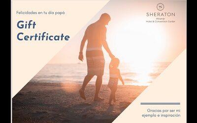Sheraton Miramar invita a celebrar Día del Padre en la comodidad del hogar