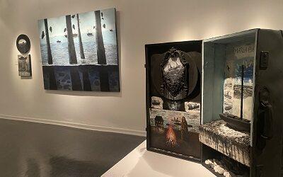 """""""Dioramas y todas las aguas"""", expo de Matilde Huidobro en Las Condes"""