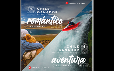 Chile obtiene doble premio a nivel sudamericano en los World Travel Awards (WTA)