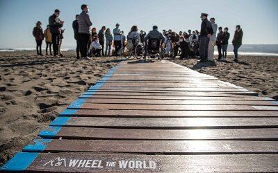Inauguran pasarela retráctil para acceso universal a la playa de Matanzas