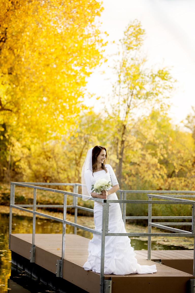 Utah Bridal Pictures State Hospital pond