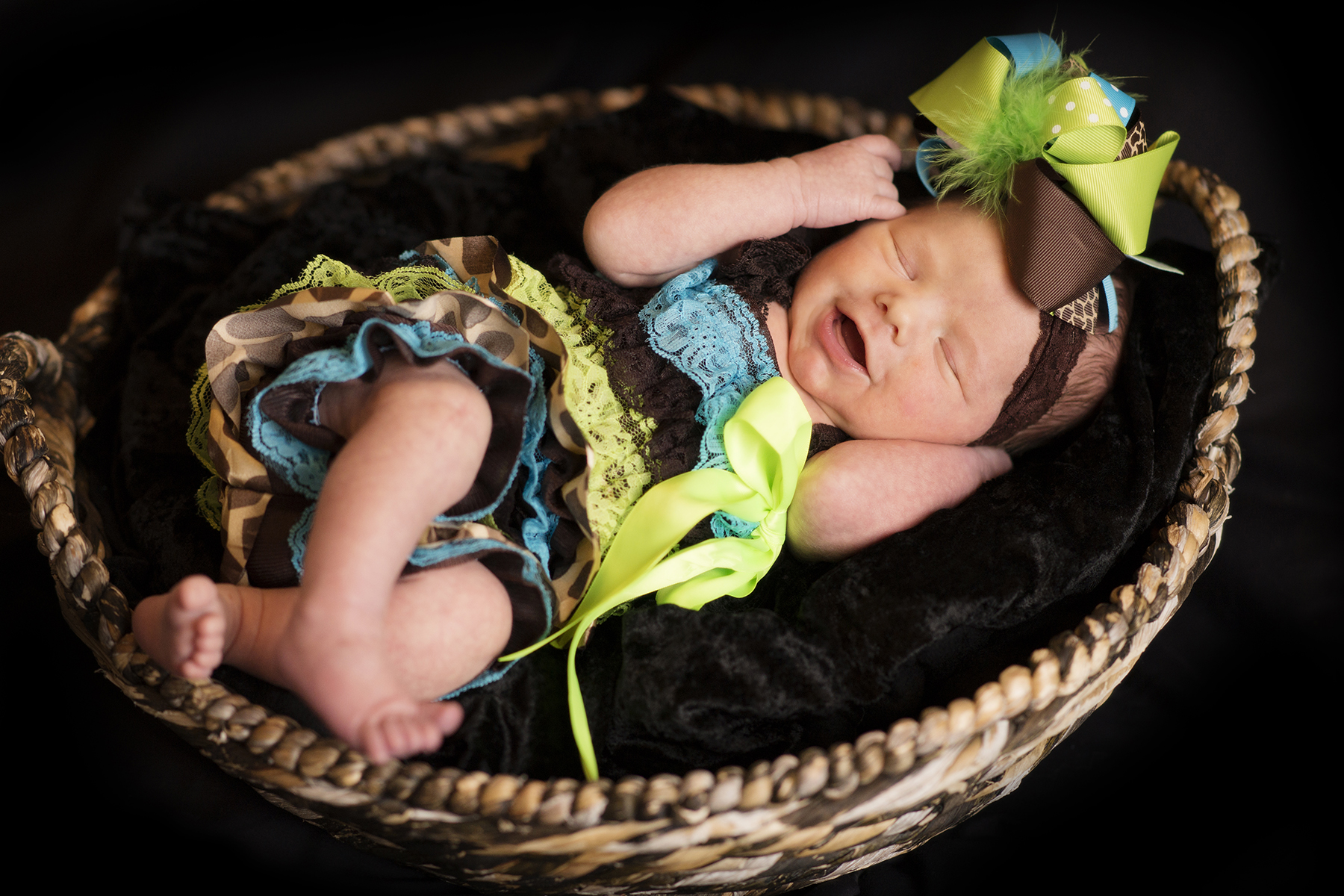 Newborn Pictures sleeping laughing baby