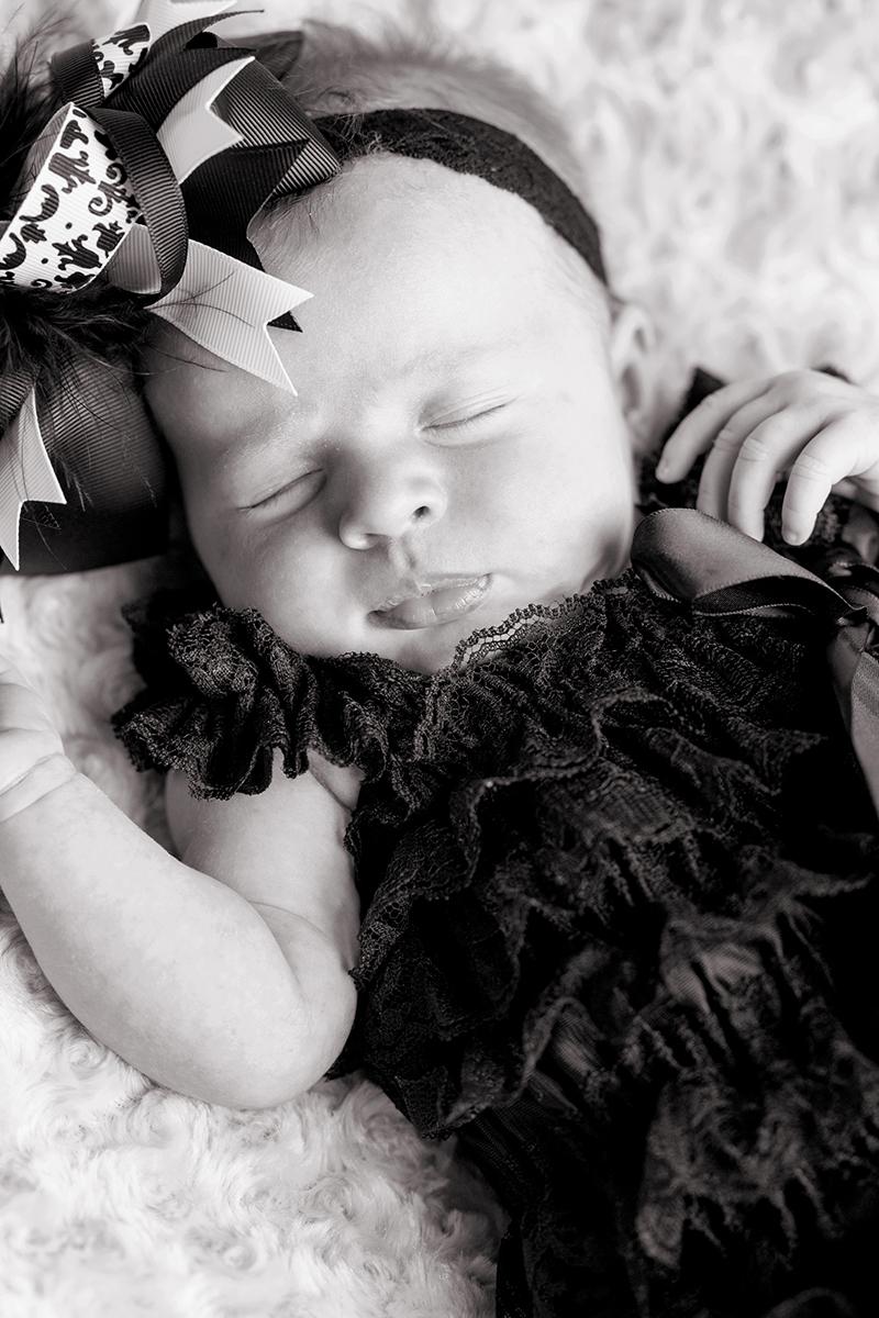 Newborn Pictures baby girl sleeping