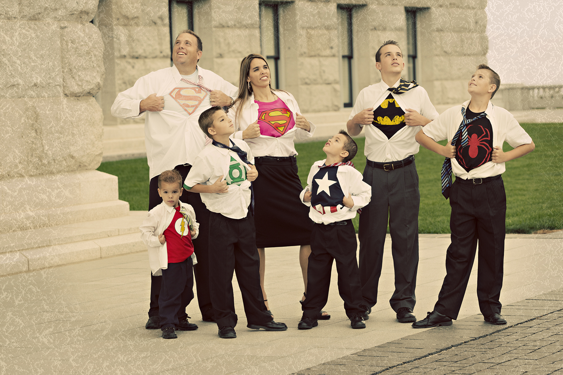 Utah Superhero Family Photos awesome fun