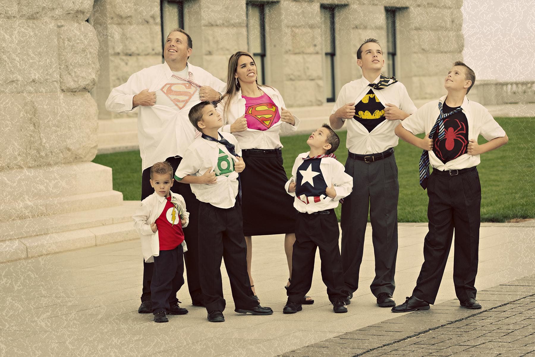 Utah Superhero Family Photos awesome fun