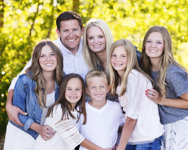 Utah Family of Seven Photos Bear Lake