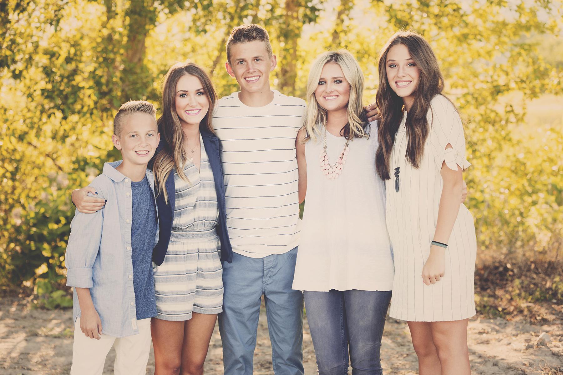 Utah Family Photos Bear Lake Five Siblings