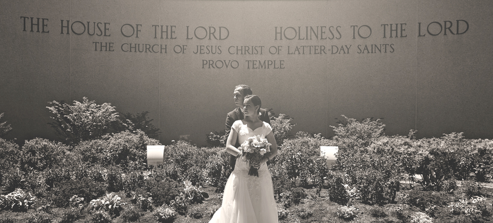 Provo Temple Wedding Bride Groom