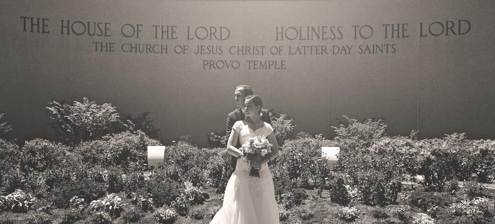 Provo Temple Wedding Bride Groom
