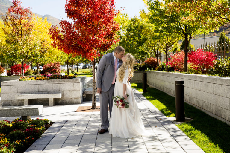 Amazing Fall Colors at Draper Temple Wedding