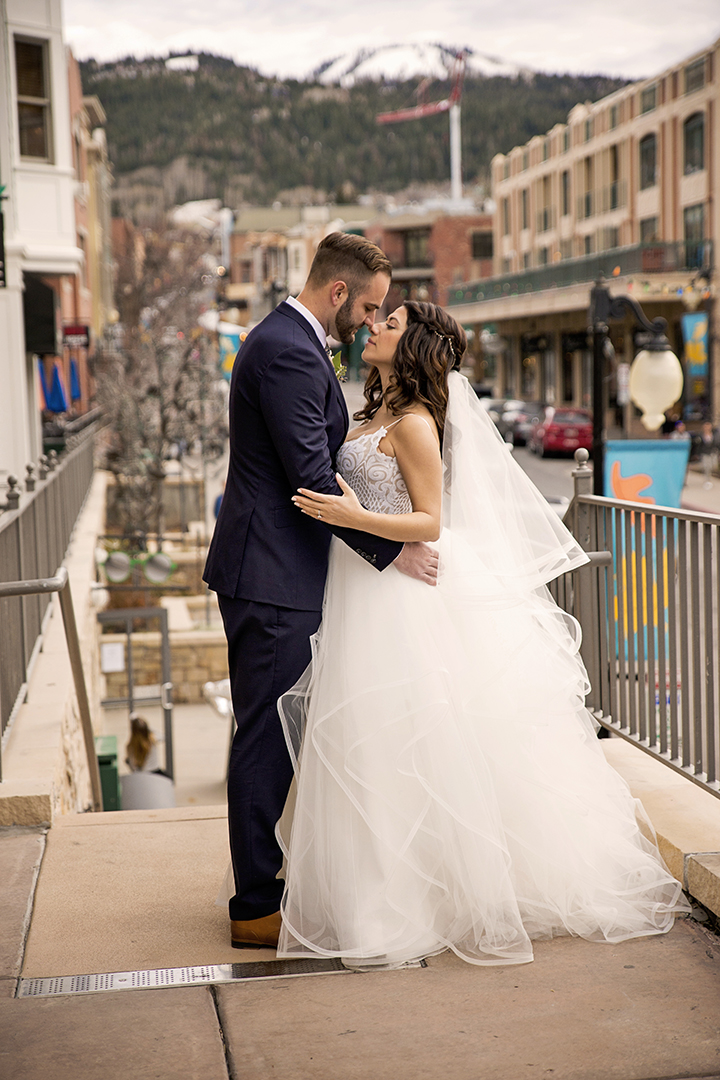 Wedding Picture on Park City Main Street