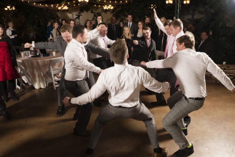 Groomsmen Dance at Wedding