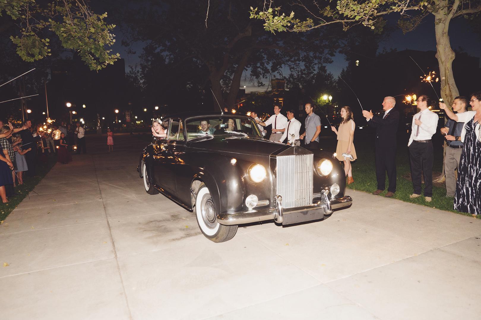 Wedding Rolls Royce Grand Exit