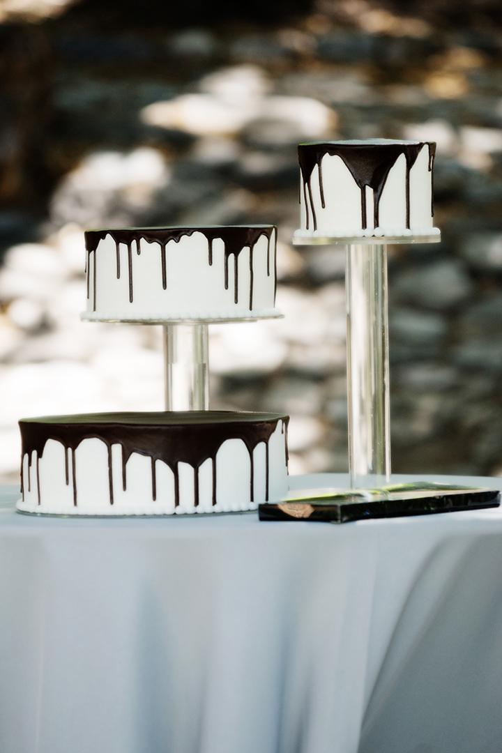 Chocolate Dripping Wedding Cake