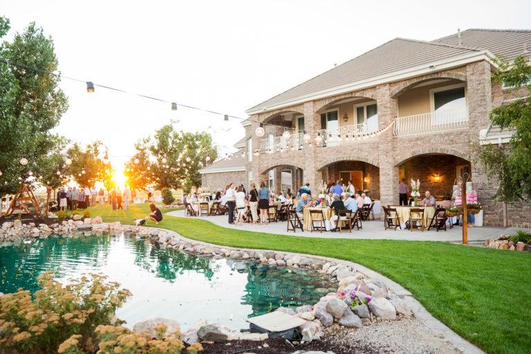 Wedding Reception Backyard Sunset