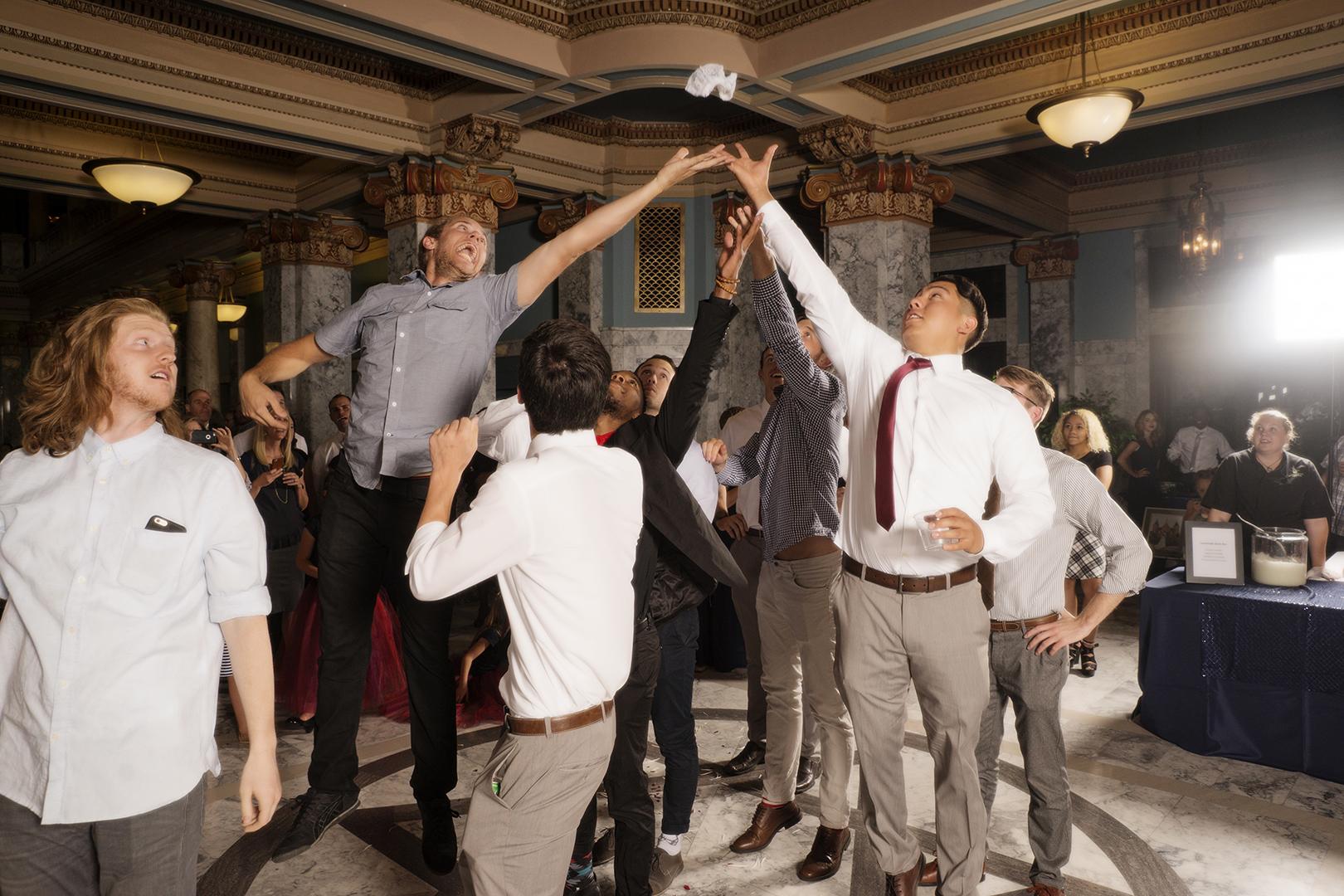 Wedding Garter Toss High Jumpers