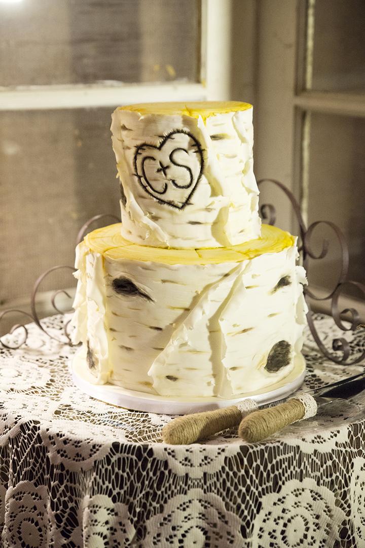 Aspen Tree Wedding Cake