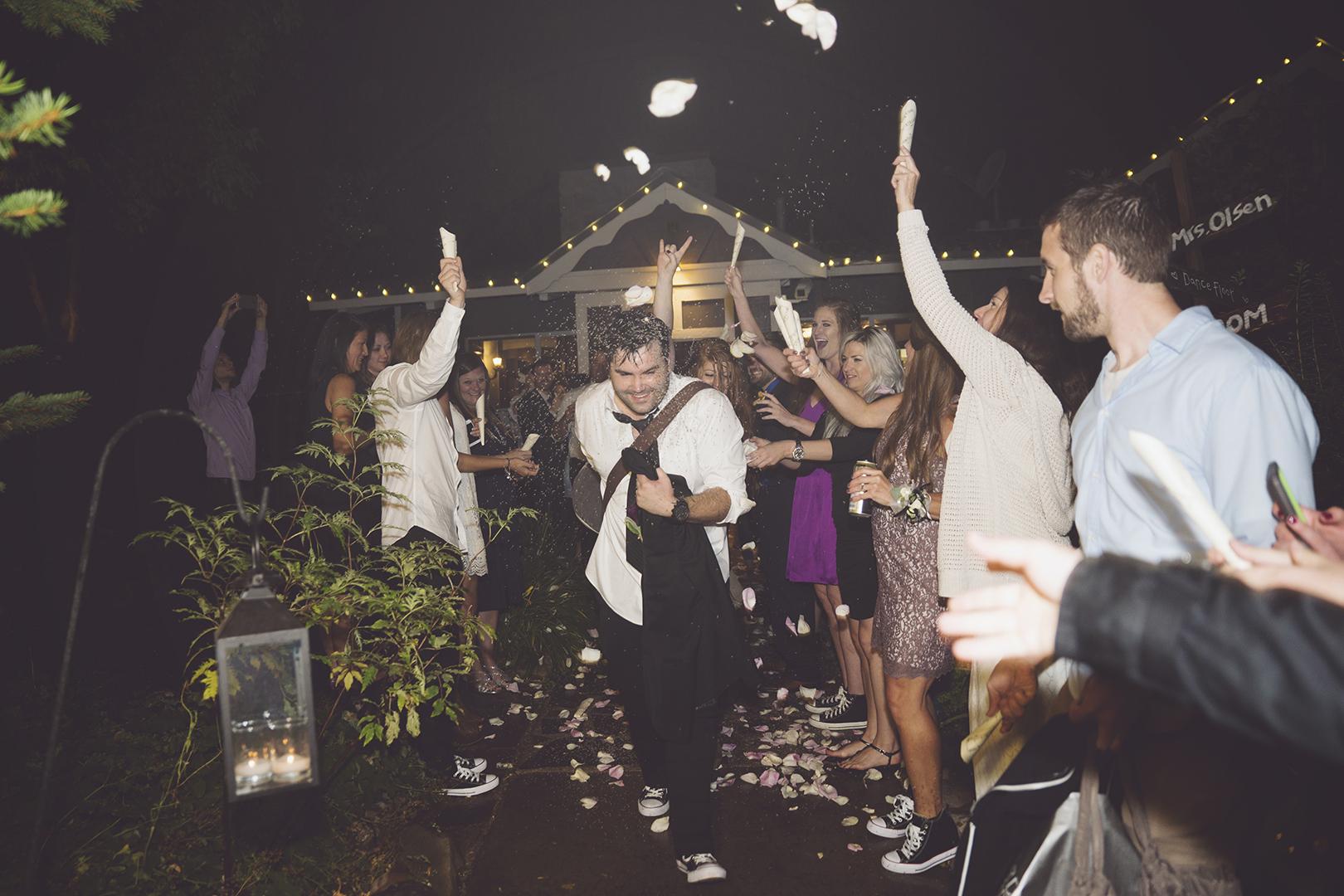Epic Wedding Exit