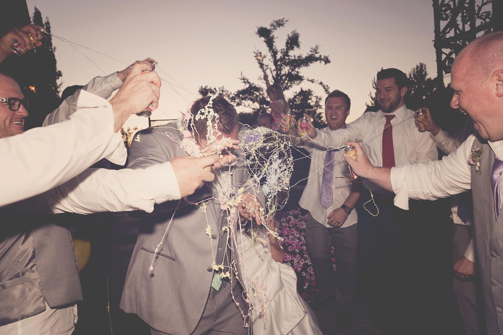 Silly String Wedding Exit