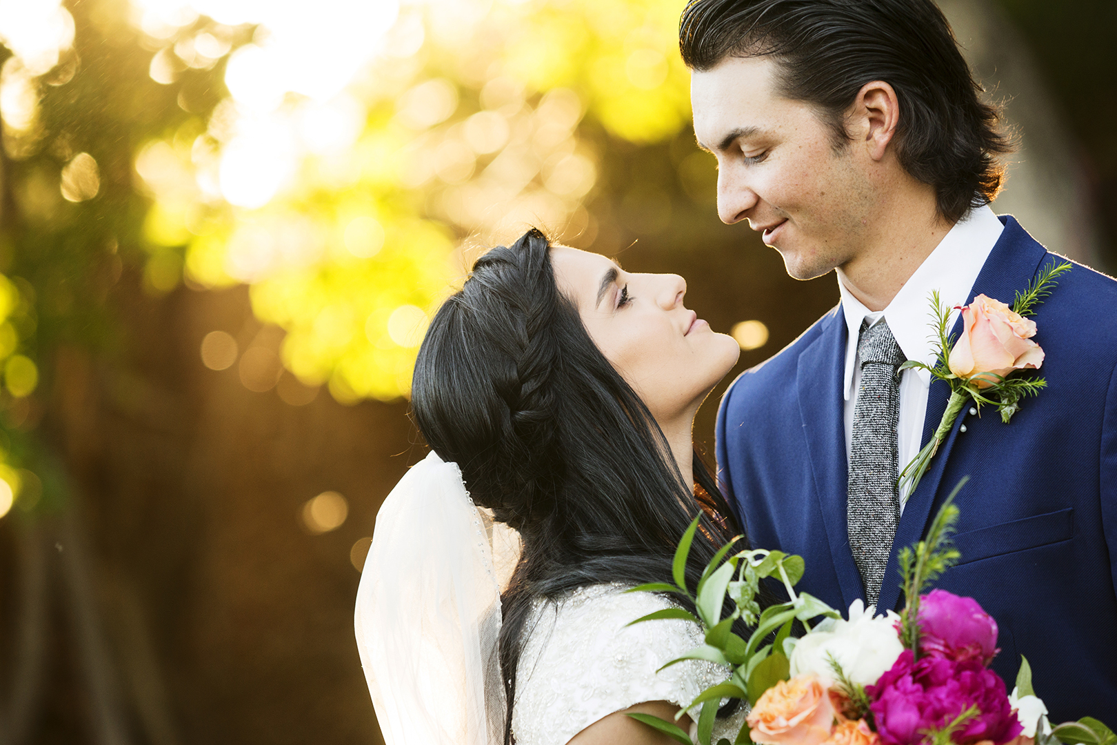Perfect Wedding Bridal Session Thanksgiving Point bride and groom