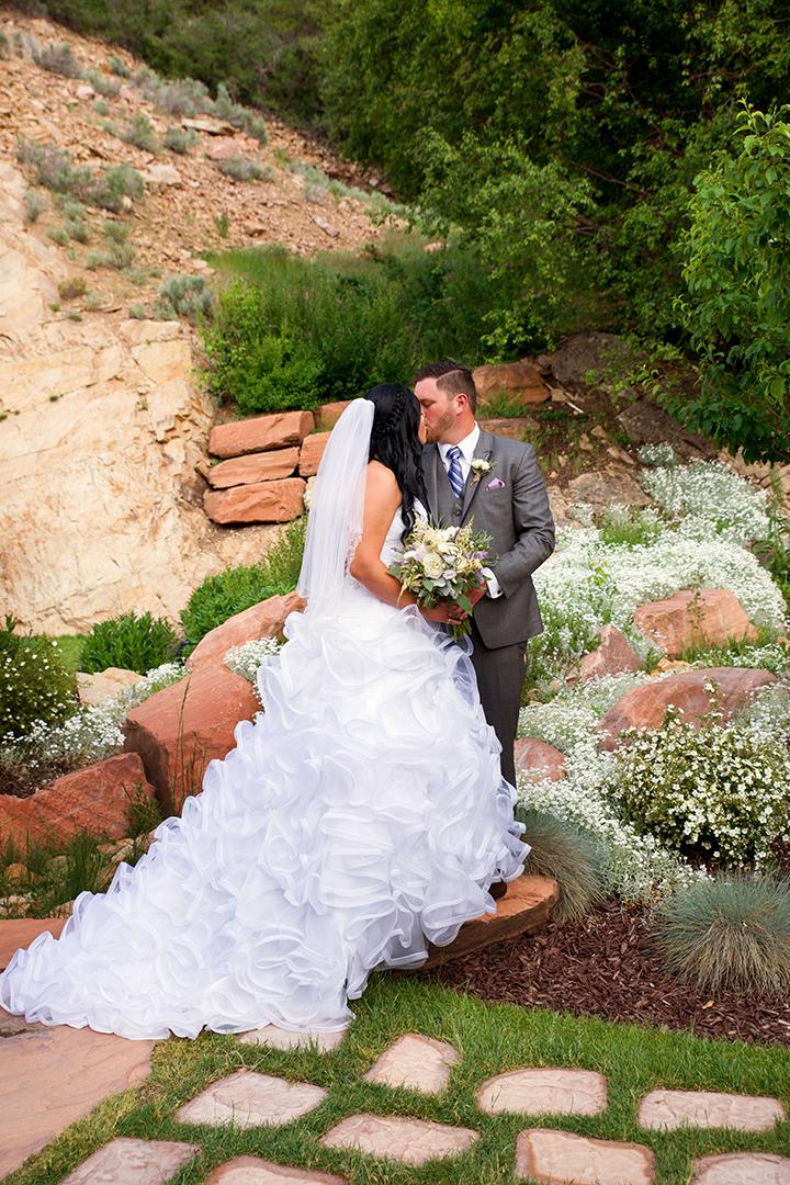 Wedding Photography at Louland Falls Bride and Groom Kissing