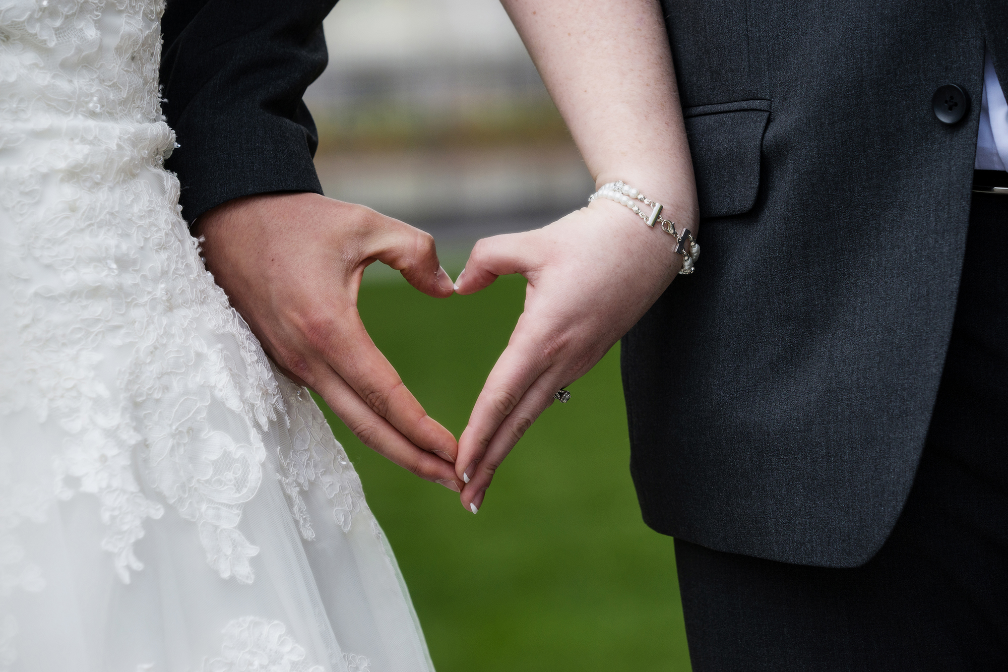 Bride and Groom Heart hands