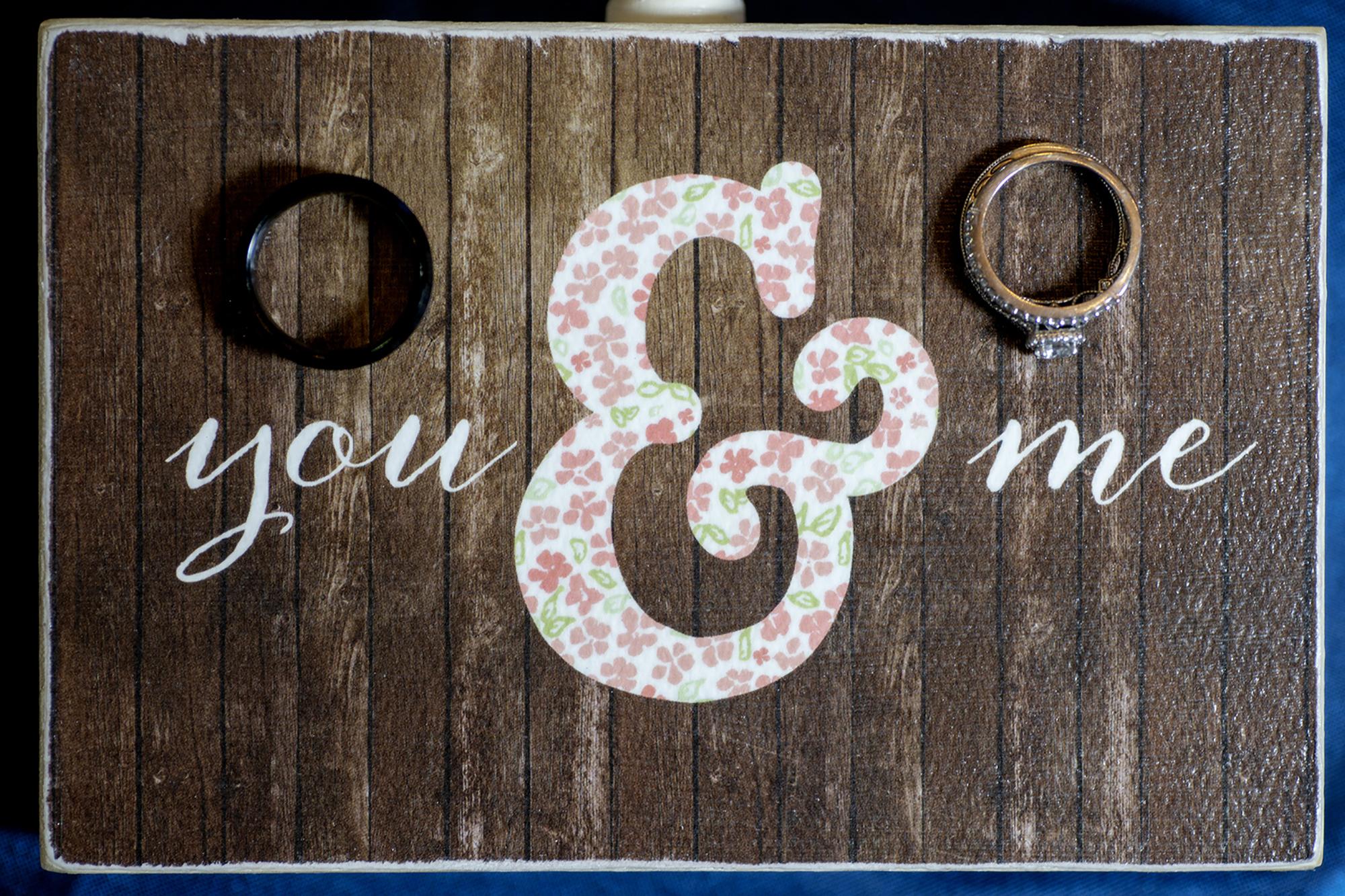 Bride and Groom Wedding Rings Artistic