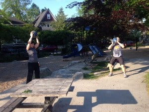 My clients Ja & Kunakar working out in the park