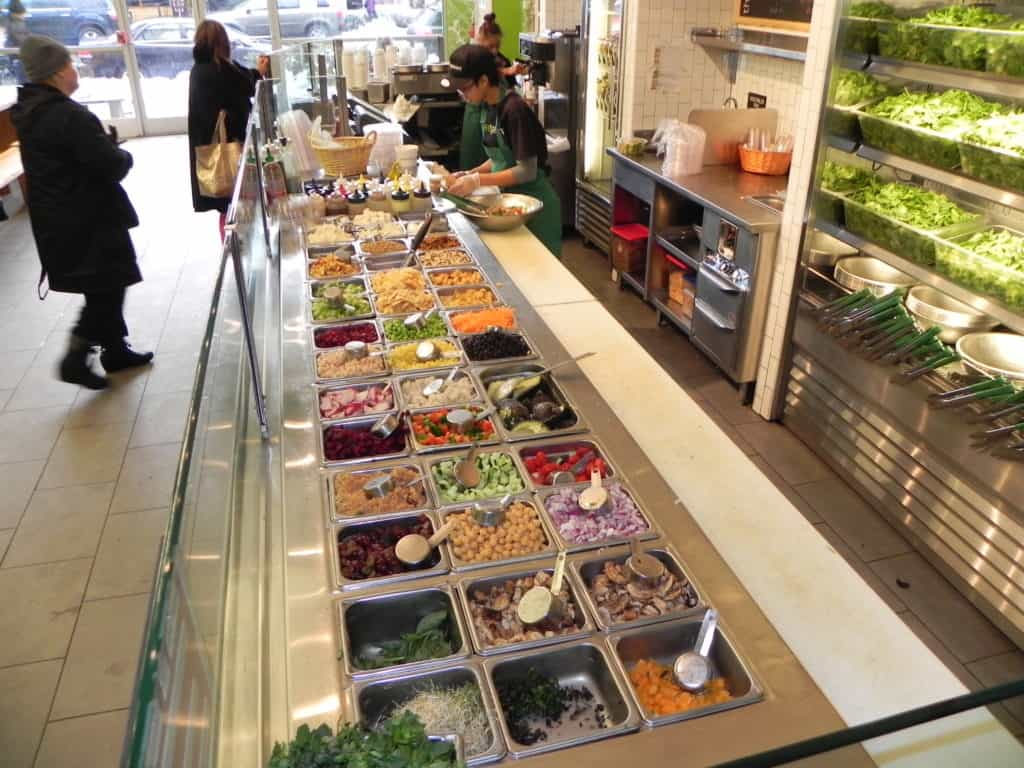 Sweetgreen, a restaurant chain featuring lots of healthy options.