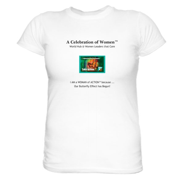 A Celebration of Women tshirt slogan version