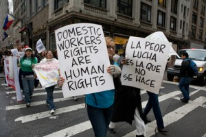 domestic workers march
