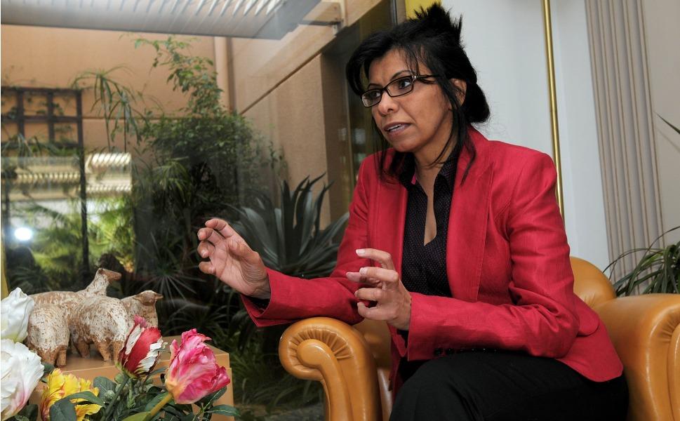Wajeha Al Huwaider rose suit