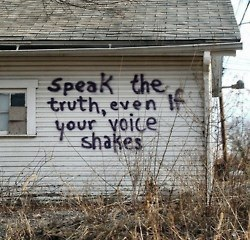speak the truth barn wall