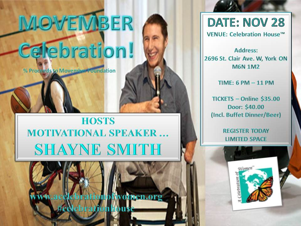 movember shayne smith event nov 28