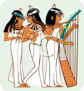 three ladies in cairo - hyrogliphics