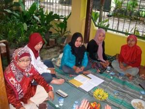 Sharon with Muslim women meet
