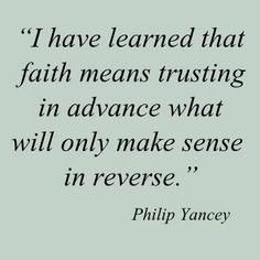 trusting in advance