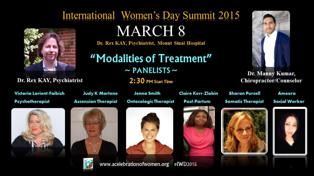 MARCH 8 Modalities of Treatment PANEL with DOCTORS