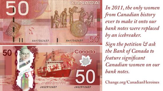 CANADIAN WOMEN ON BILLS