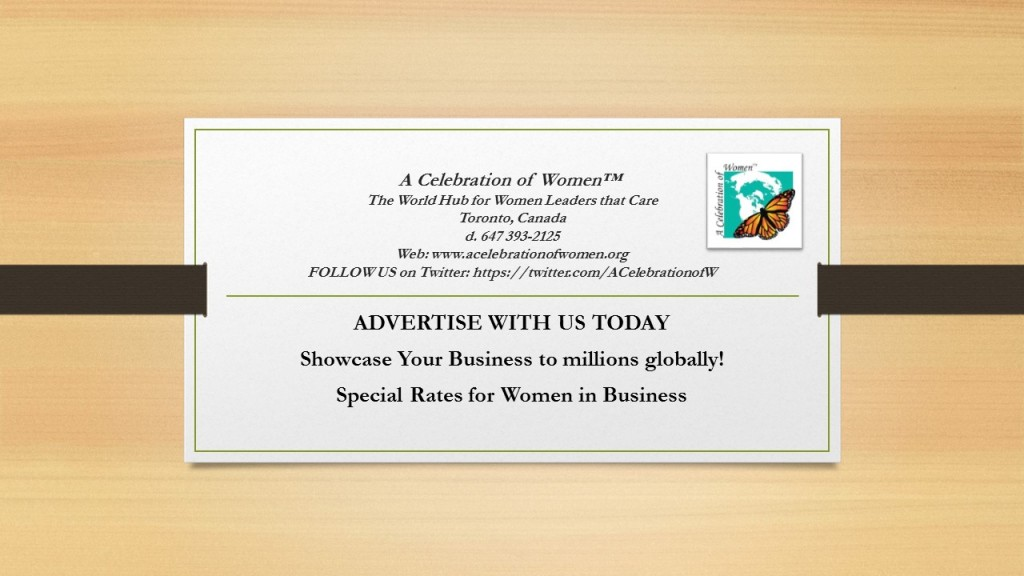 A Celebration of Women™ Advertise with us Today