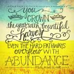 abundance psalm 65 11