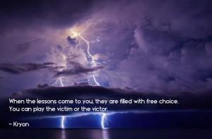 kryon victim or victor